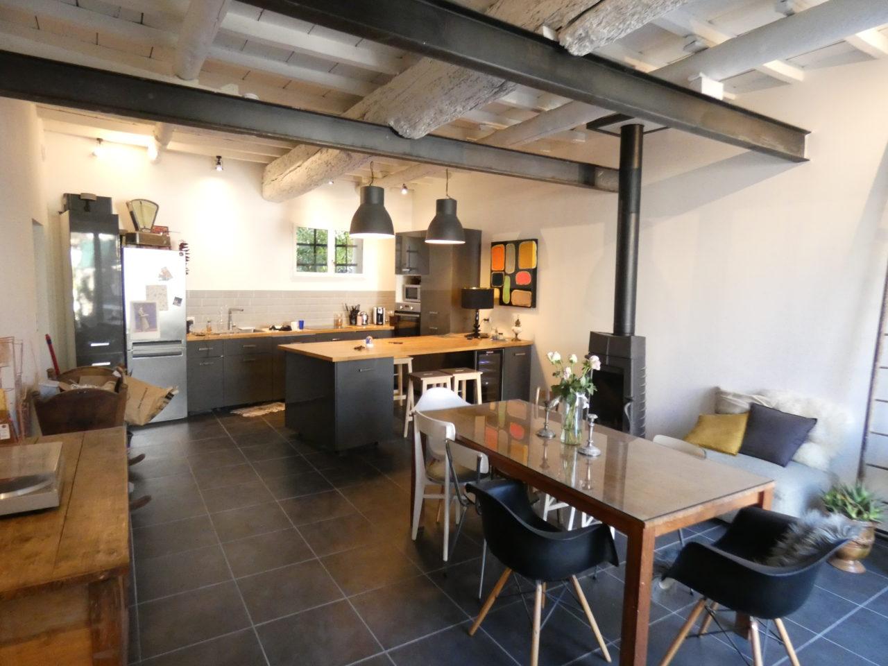 architecture intérieur salle à manger cuisine