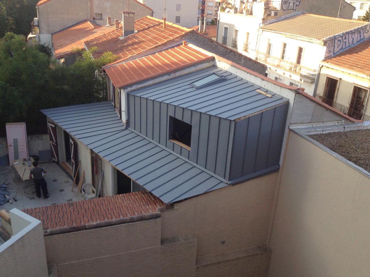 extension toiture vue haut