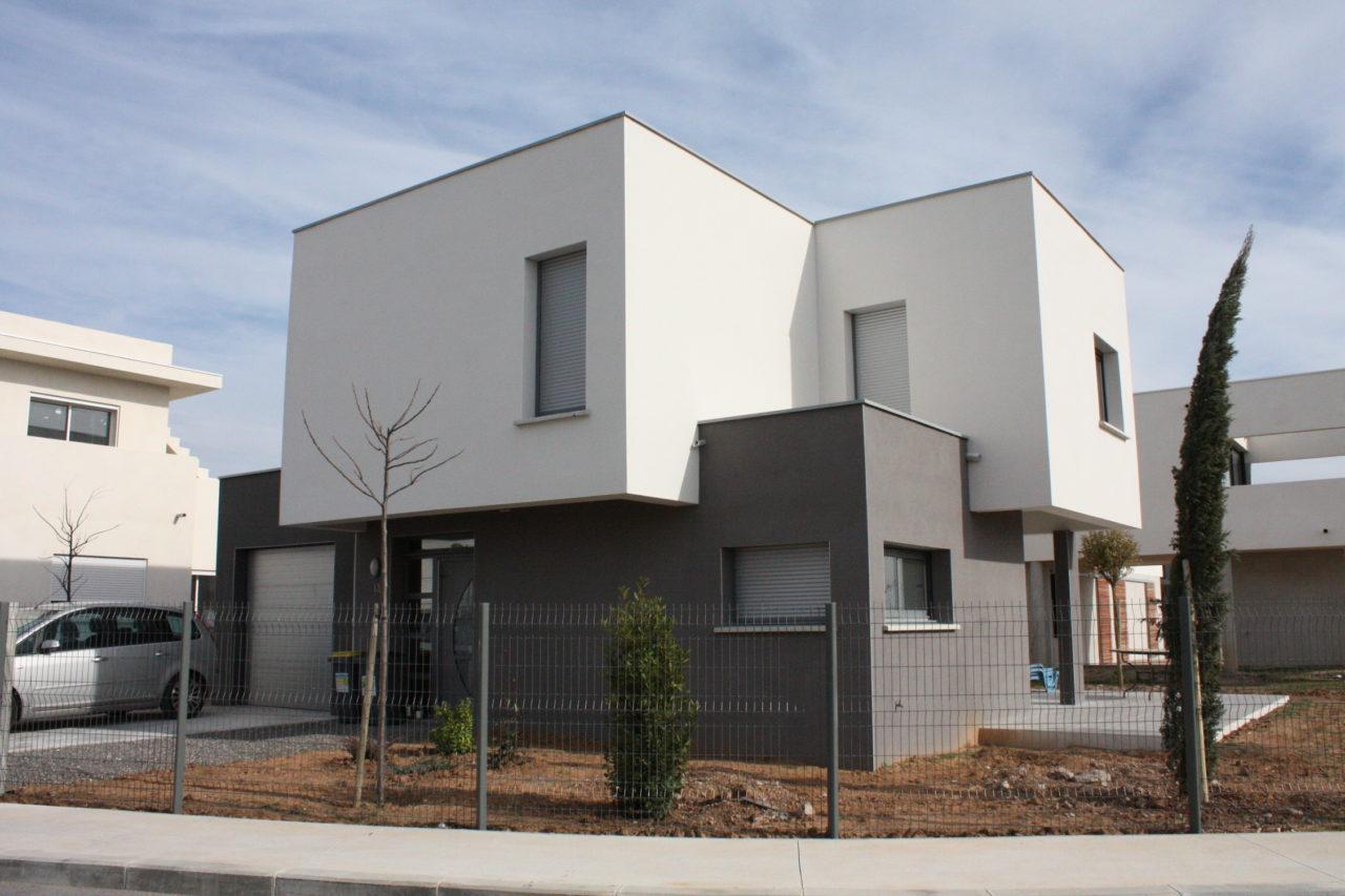 plan architecture extérieur maison